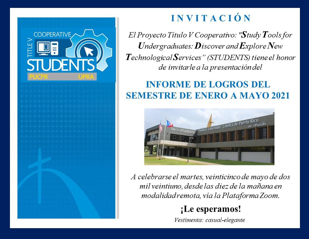 Invitación Informe de Logros